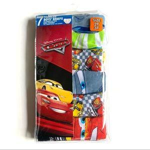 5pc Disney Cars toddler boy underwear size:2/3